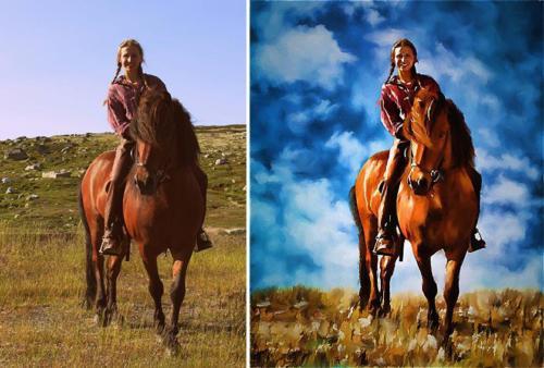 På hesteryggen